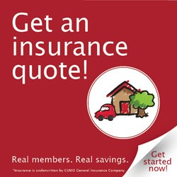 Home and Auto QuickQuote Banner Square Red